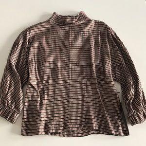 Zara check blouse